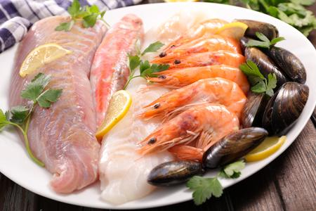 crustacean: assorted fish and crustacean
