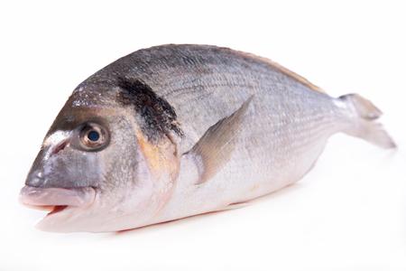 raw fish isolated Stock Photo