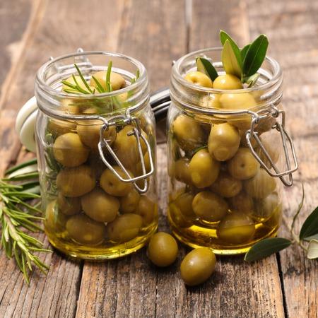 olive green: green olive and leaf