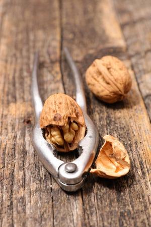 nutcracker: walnut and nutcracker Stock Photo