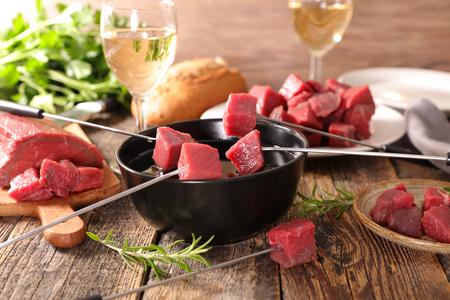 쇠고기 퐁듀 스톡 콘텐츠
