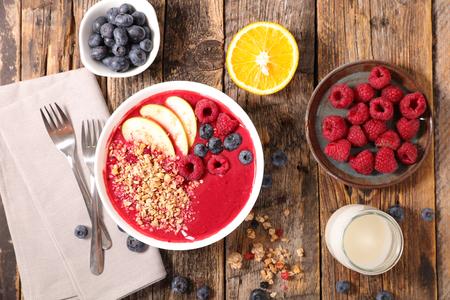 ingredient: smoothie bowl and ingredient Stock Photo