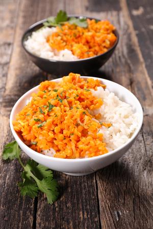 lenteja: arroz y lentejas