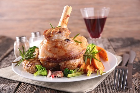 fried lamb chop Stock Photo