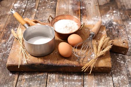 ingredient: baking ingredient and utensil Stock Photo