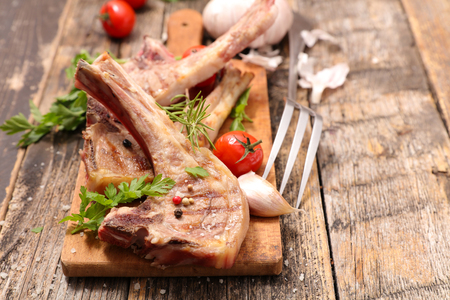 chop: grilled lamb chop Stock Photo