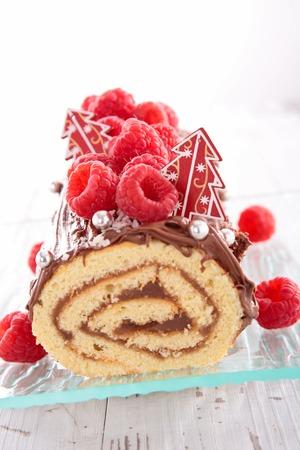 christmas log dessert