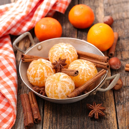 clementine fruit: clementine and spice Stock Photo