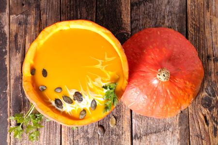 entrees: pumpkin soup