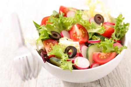 entrees: vegetable salad