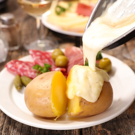 raclette cheese and potato