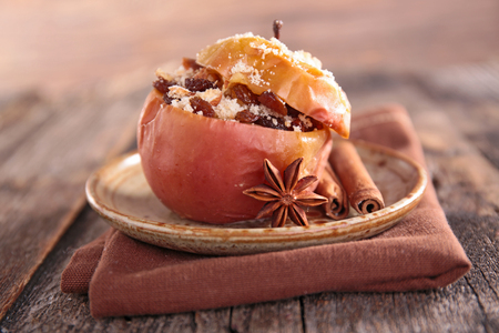baked apple and spice