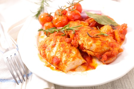 chicken fillet: chicken fillet with tomato and rosemary
