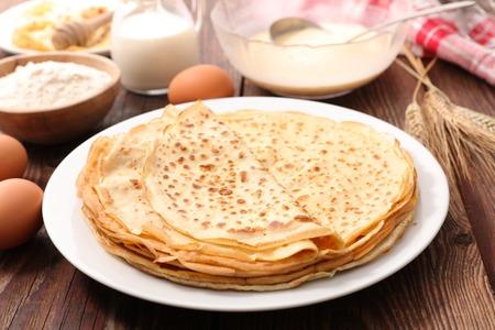ingredient: crepe with ingredient Stock Photo