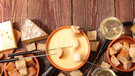 cheese fondue Stockfoto
