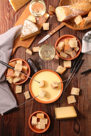 cheese fondue 版權商用圖片