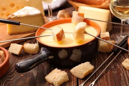 cheese fondue 写真素材