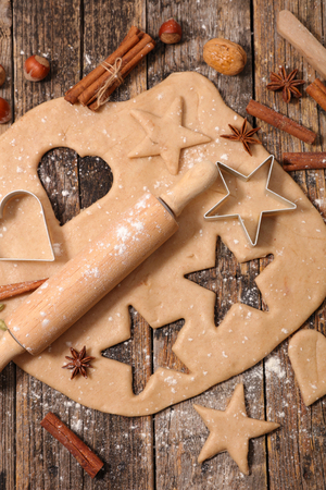 gingerbread cookie: preparation gingerbread cookie for christmas