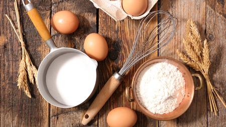 ingredient: baking food ingredient background Stock Photo