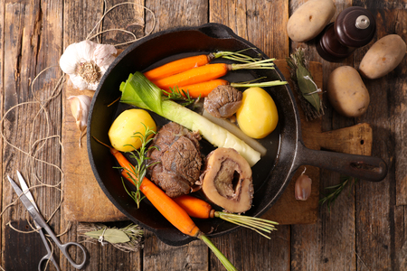 pot au feu rustic above