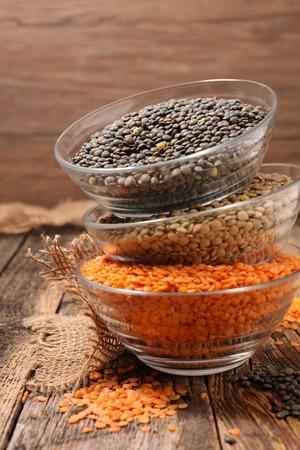 lenteja: assorted lentil grain