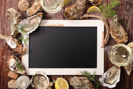 crustacean: crustacean and blacboard Stock Photo