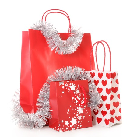 christmas shopping bag: christmas shopping bag Stock Photo