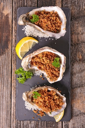appetizers menu: baked oyster