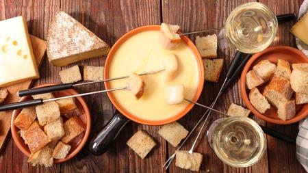 cheese fondue Standard-Bild