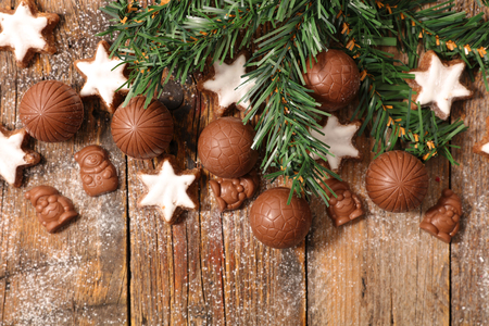 cioccolato natale: chocolate christmas background