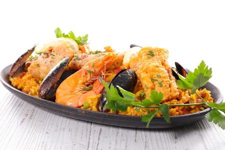 almeja: paella Foto de archivo