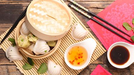 dim sum dumpling Stock Photo