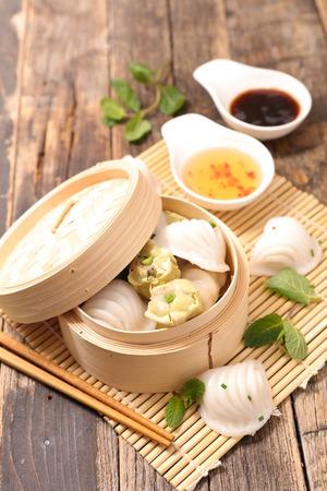sum: dim sum dumpling Stock Photo