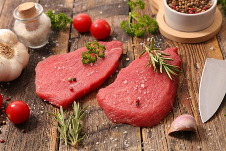 ingredient: fresh raw beef with ingredient
