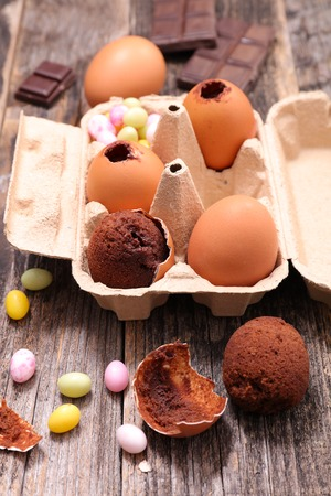 chocolate egg: chocolate egg for easter day Stock Photo