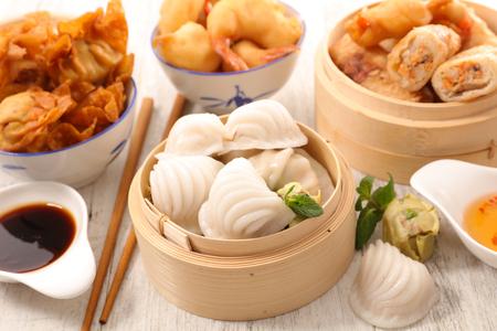 アジア料理、アジア料理の盛り合わせ 写真素材