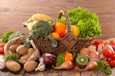 assorted raw food Stock Photo