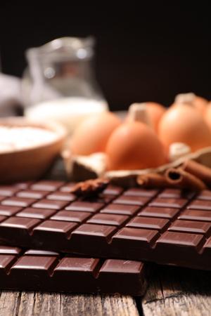 ingredient: chocolate bar and baking ingredient