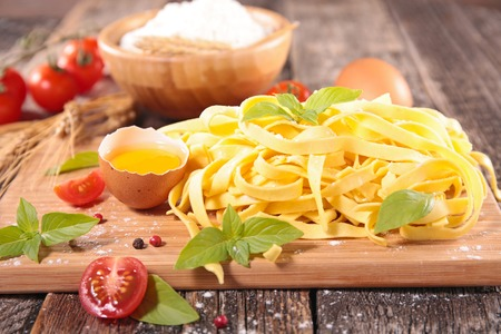 ingredient: Raw tagliatelle and ingredient