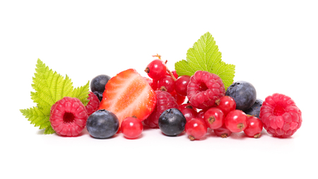 berries fruits isolated on white background