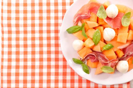 Cantaloupe: melon ad prosciutto Stock Photo