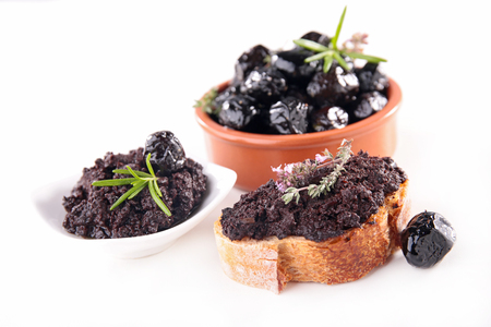 black olives and tapenade