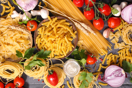 ingredient: italian food background ingredient Stock Photo