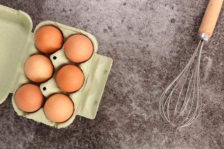 egg whisk: egg and whisk Stock Photo