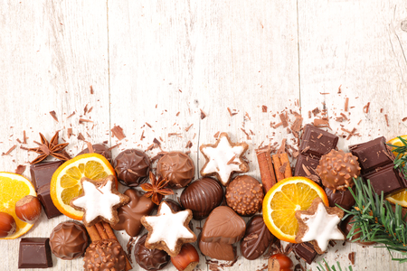 spice: christmas cookie,chocolate and spices