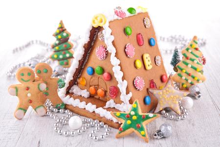 ハウスおろし生しょうがパン、クリスマスのクッキー 写真素材