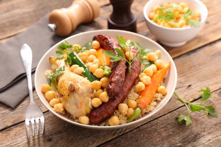carnes y verduras: Cuscús con verduras y carnes