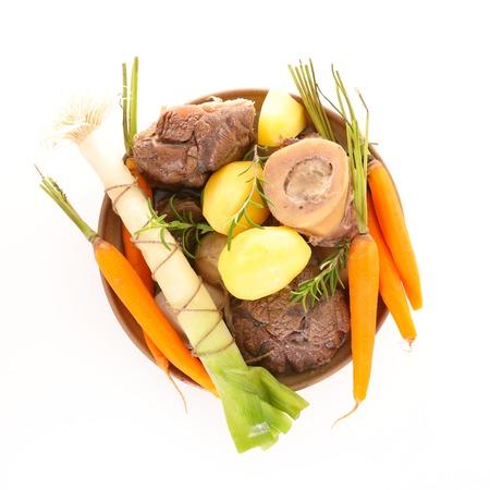 boeuf, légumes et bouillon Banque d'images