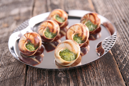 french dish,bourgogne escargot Stock Photo