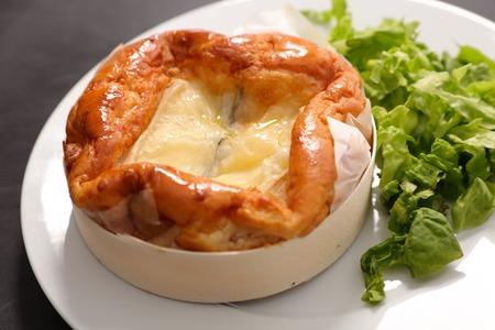 baked cheese fondue Stock Photo